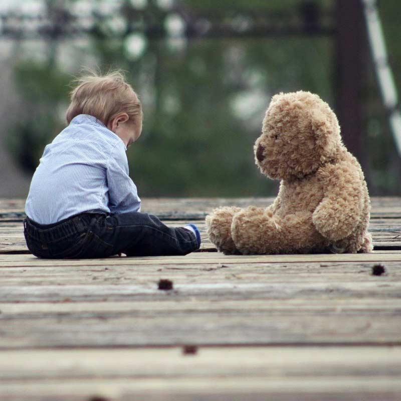 Teddy, Spielzeug für 2-3 Jahre alte Kinder