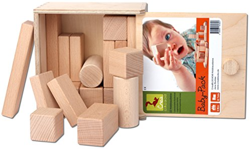 baby bio holzbaukl tze f r babys aus buchenholz. Black Bedroom Furniture Sets. Home Design Ideas